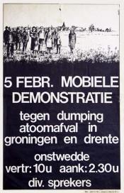 Mobiele demonstratie tegen afval in zout