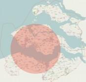 Evacuatie-zone Borssele gevisualiseerd