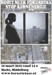 Herdenking Fukushima in Middelburg