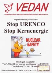 Protest bij excursie nucleaire industrie Urenco